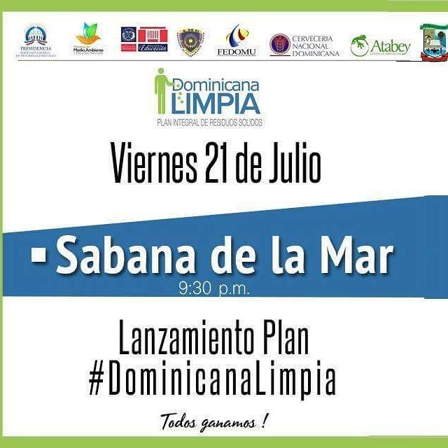 Lanzamiento Plan Dominicana Limpia